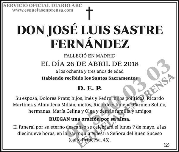 José Luis Sastre Fernández